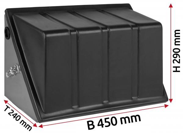 Batteriekasten aus Edelstahl 85 Ah Batterie
