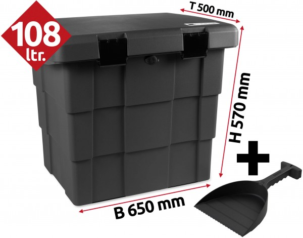 PKW Daken Pitbox Lagerbox Streugutbehaelter aus Kunststoff